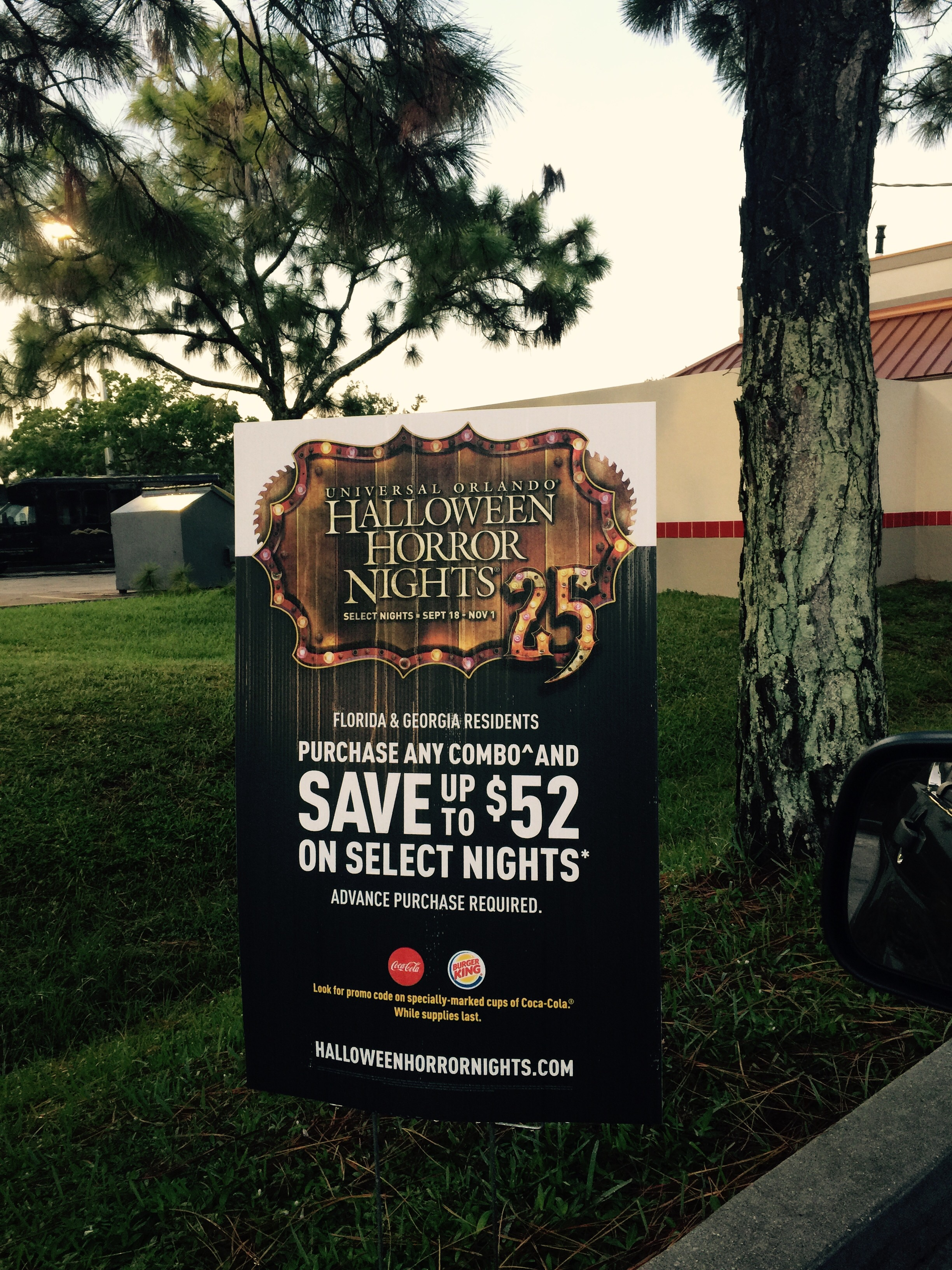 halloween horror nights code orlando florida fl