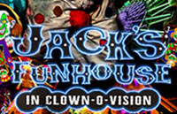 Jacks's Funhouse: In Clown-O-Vision Logo | HHN XVII 2007