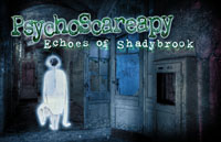 PsychoScareapy: Ghosts of Shadybrook Logo | HHN XX 2010