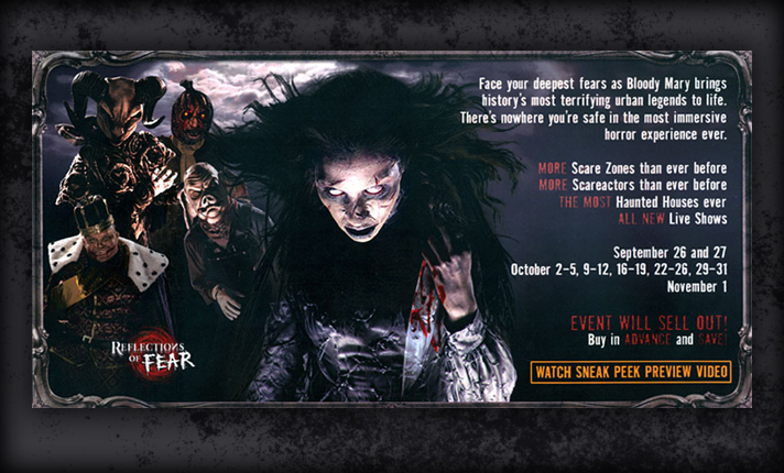 Bloody Mary inspires more characters than had ever been seen before in out haunt experience...