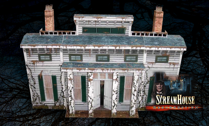 Guests can actually bring the horror into their own homes with faithful paper models online...