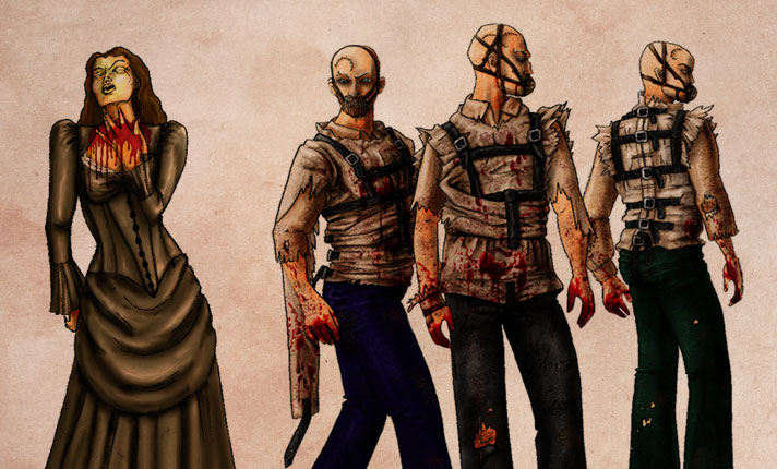 HHN XVIII | Streets of Blood Character Renderings