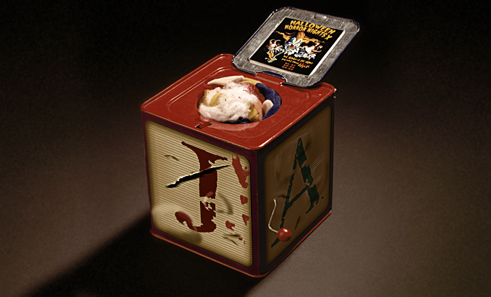 Media gifts include custom Jack-In-A-Box replicas of Universal's twisted creature, Jack the Clown...