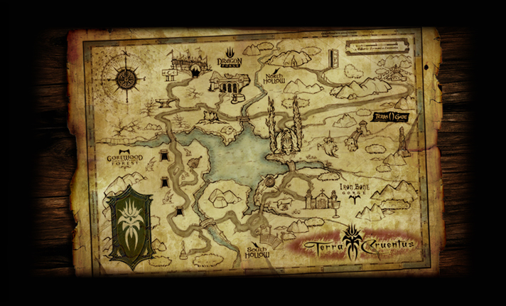 As depicted on an ancient map, for the first time all of the realms of horror come together in one world, Terra Cruentas...