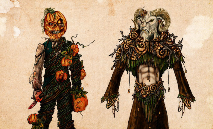 HHN XVIII | The Hallow House Characters Pumpkin Soul and Samhain Creature