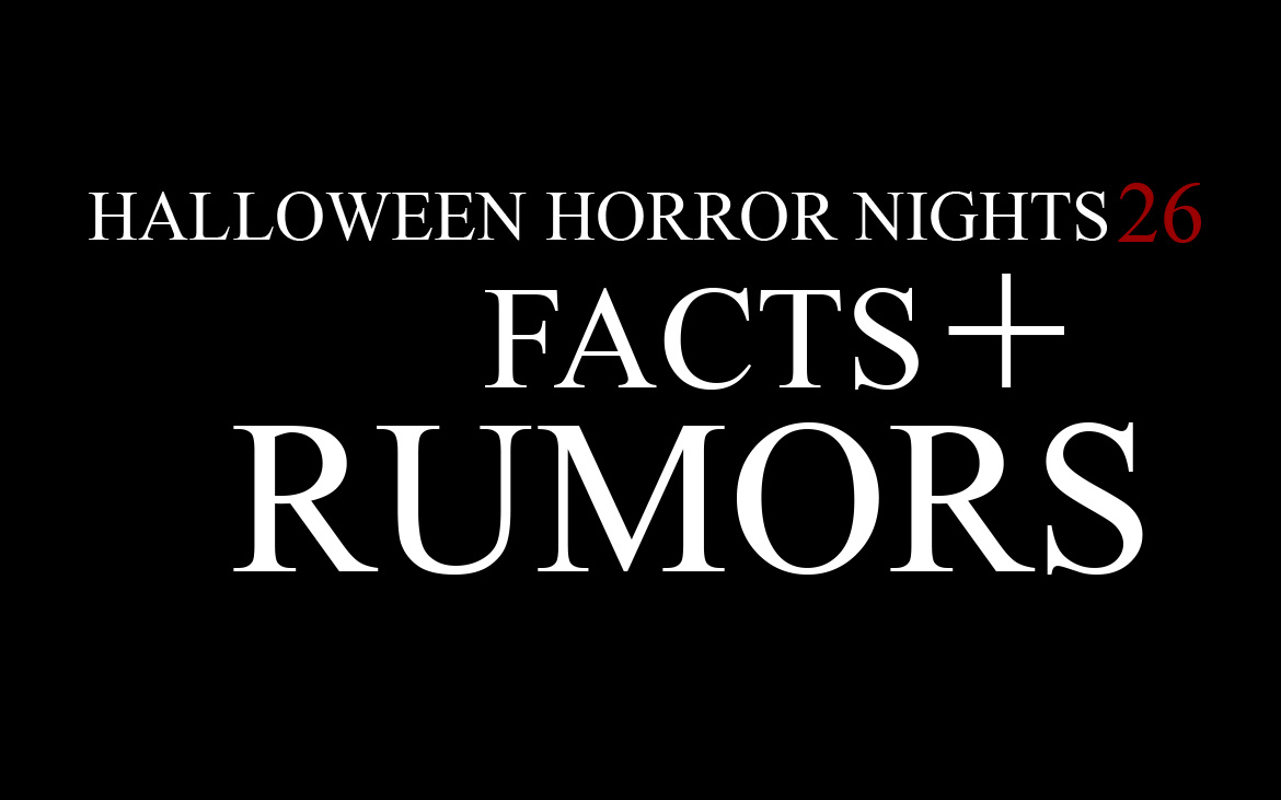 HHN 26 Facts & Rumors