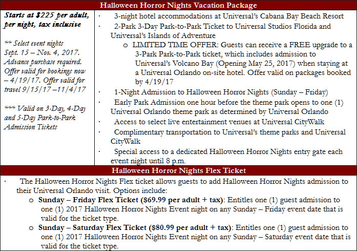halloween horror nights 2017 tickets