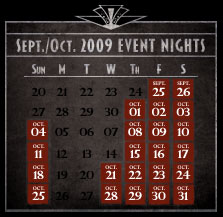HHN XIX Event Dates | 2009