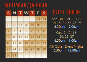HHN 21 Event Dates | 2011