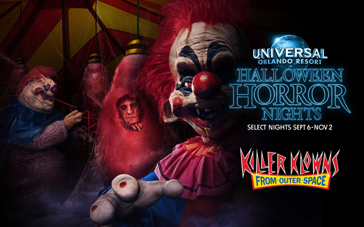 Killer Klowns from Outer Space Land at Halloween Horror Nights 29
